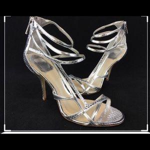 Dior Double Sandal 10CM Silver sz 36.5